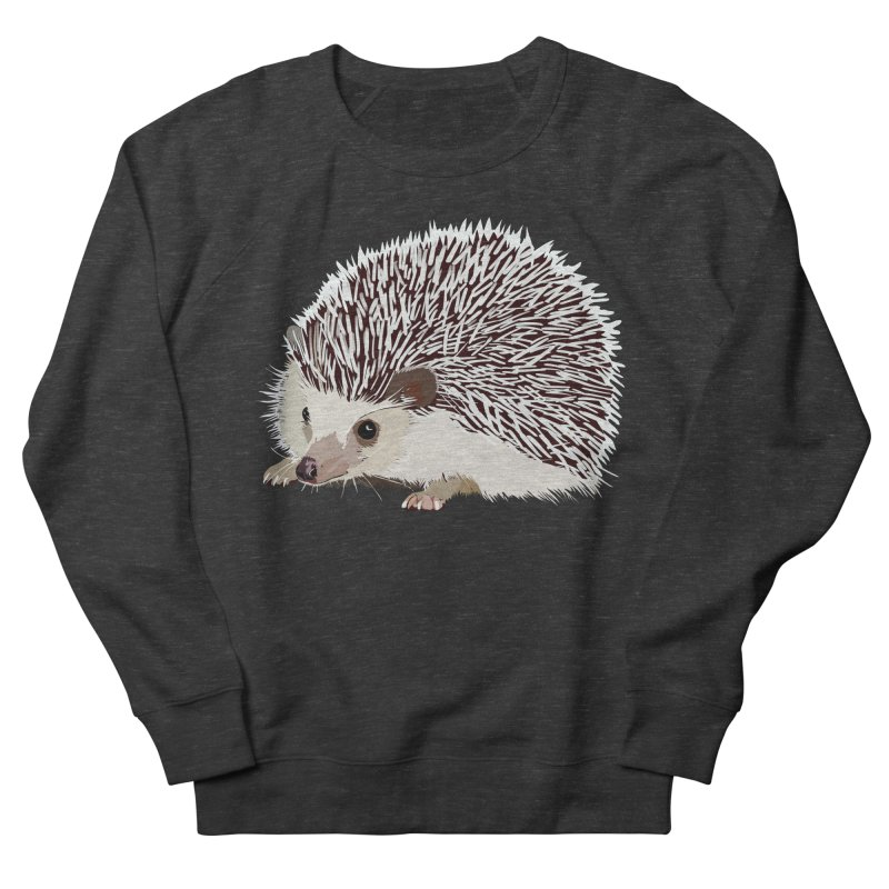 Happy Hedgehog Men's French Terry Sweatshirt by DevilishDetails's Artist Shop