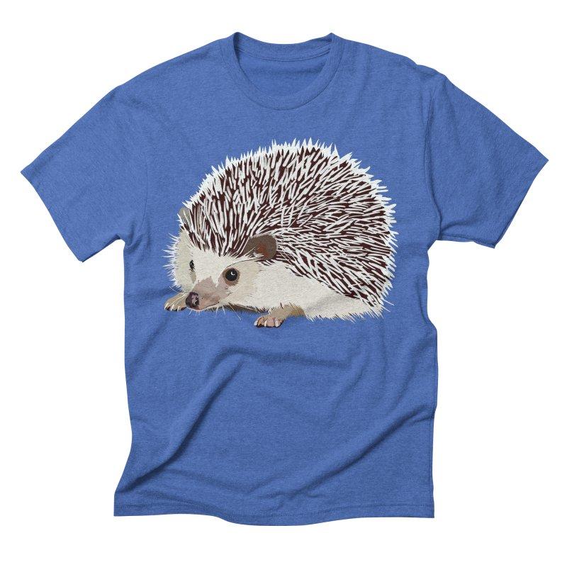 Happy Hedgehog Men's Triblend T-Shirt by DevilishDetails's Artist Shop