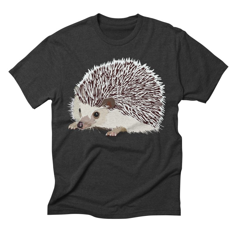 Happy Hedgehog Men's Triblend T-Shirt by DevilishDetails's Artist Shop