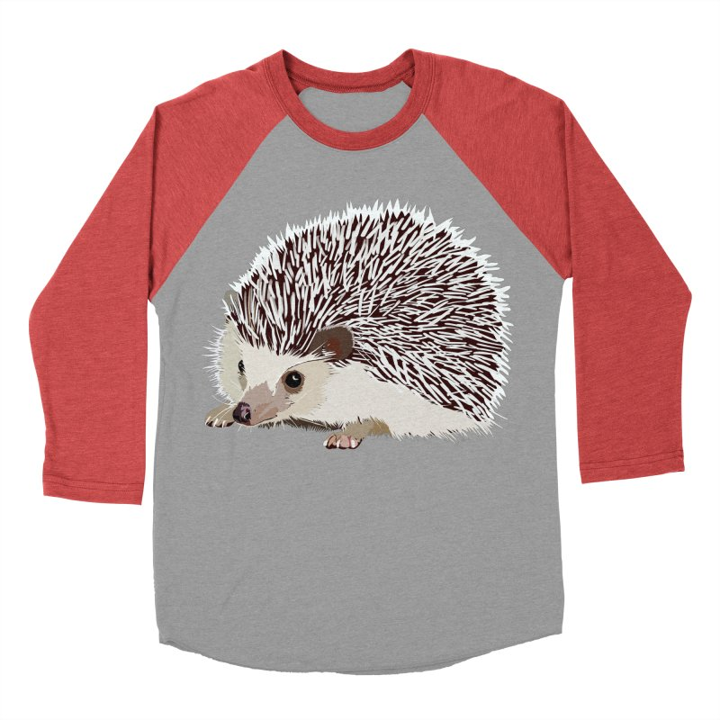 Happy Hedgehog Women's Baseball Triblend T-Shirt by DevilishDetails's Artist Shop