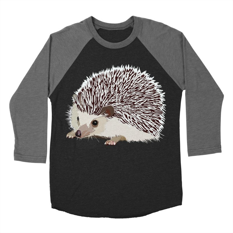 Happy Hedgehog Women's Baseball Triblend Longsleeve T-Shirt by DevilishDetails's Artist Shop