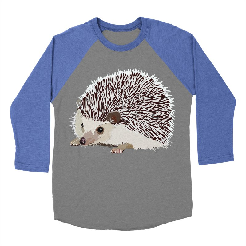 Happy Hedgehog Men's Baseball Triblend T-Shirt by DevilishDetails's Artist Shop