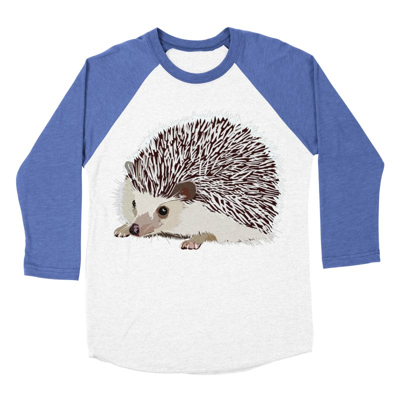 Happy Hedgehog Men's Baseball Triblend T-Shirt by DevilishDetails's Artist Shop