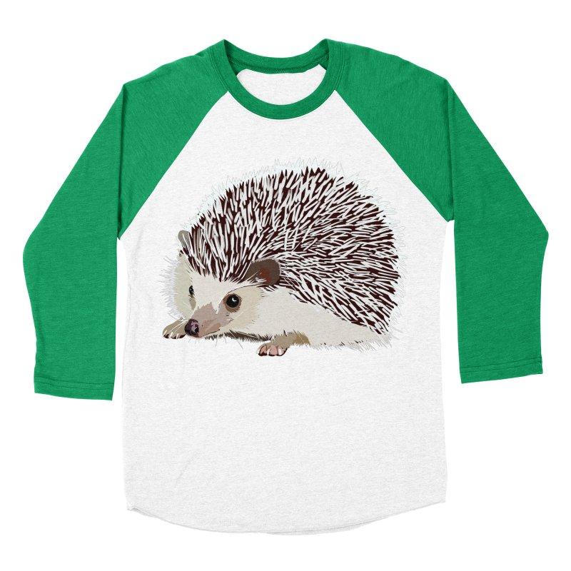 Happy Hedgehog Men's Baseball Triblend Longsleeve T-Shirt by DevilishDetails's Artist Shop