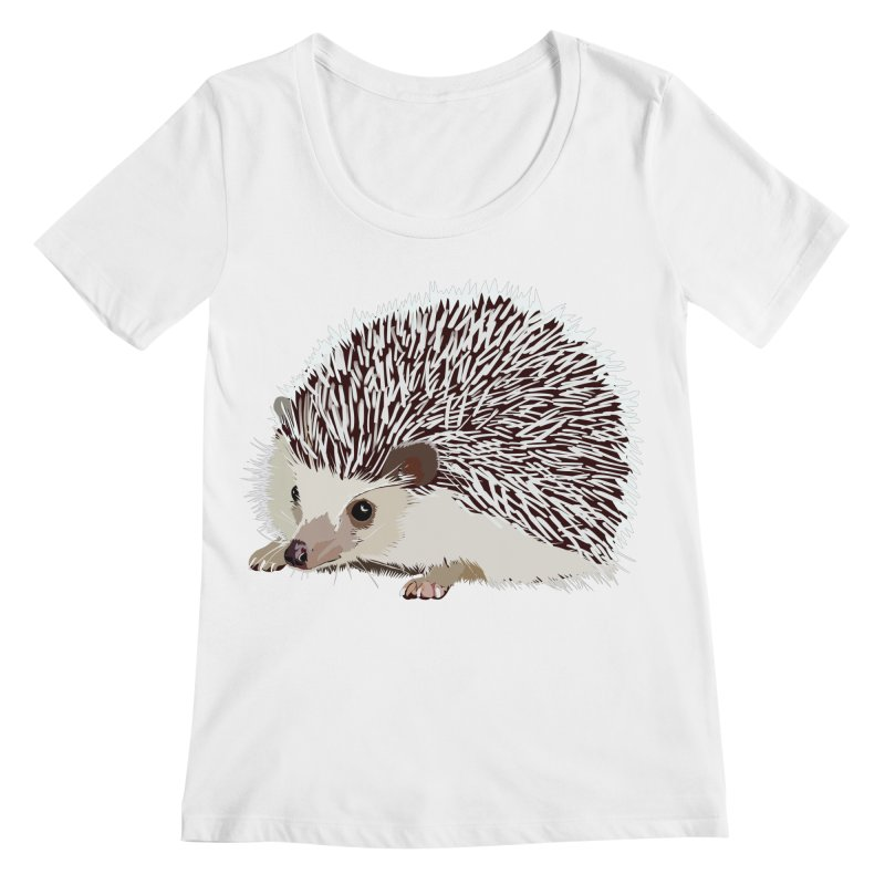 Happy Hedgehog Women's Regular Scoop Neck by DevilishDetails's Artist Shop