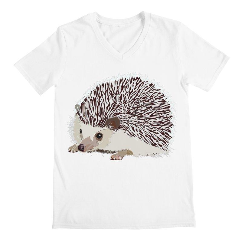 Happy Hedgehog Men's V-Neck by DevilishDetails's Artist Shop