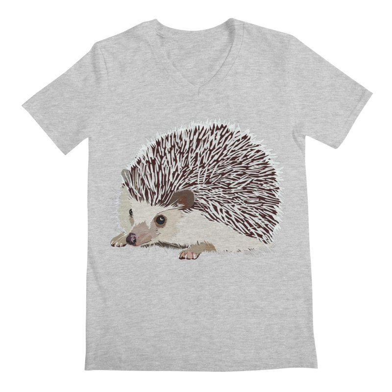 Happy Hedgehog Men's Regular V-Neck by DevilishDetails's Artist Shop