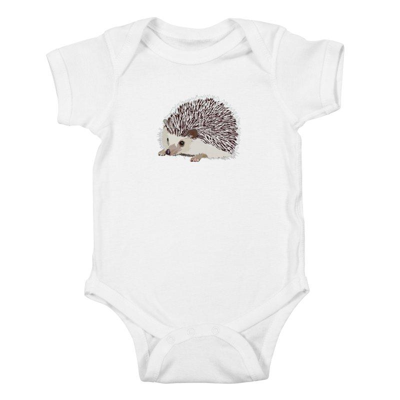Happy Hedgehog Kids Baby Bodysuit by DevilishDetails's Artist Shop