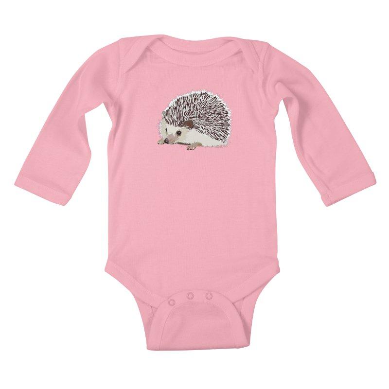 Happy Hedgehog Kids Baby Longsleeve Bodysuit by DevilishDetails's Artist Shop
