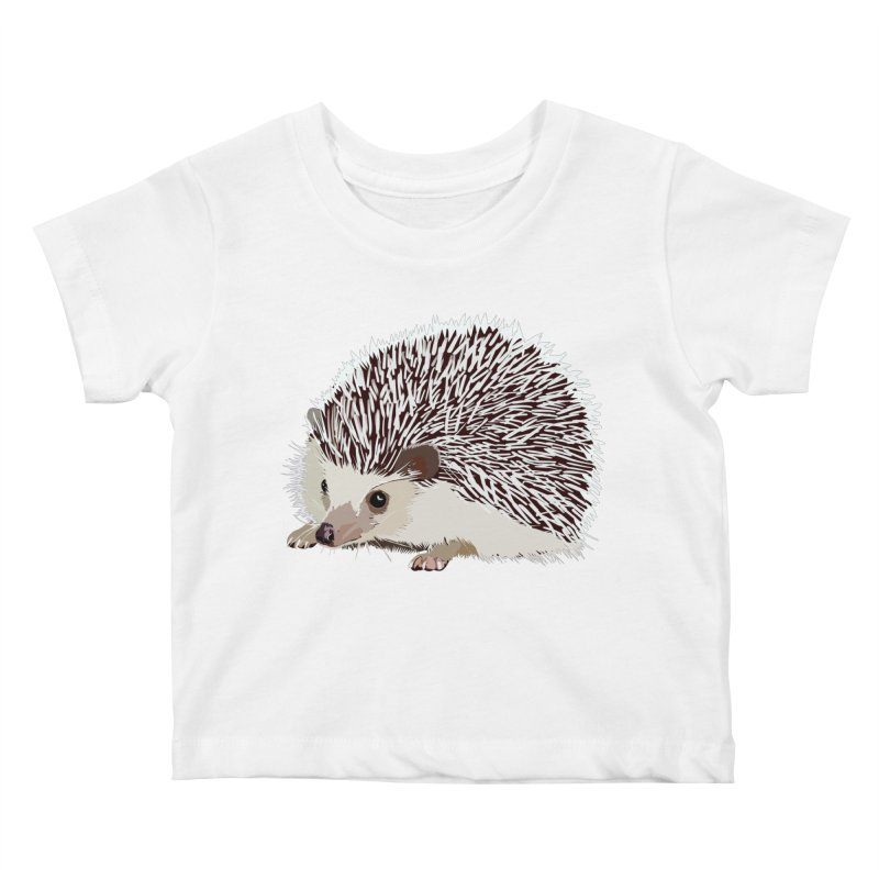 Happy Hedgehog Kids Baby T-Shirt by DevilishDetails's Artist Shop