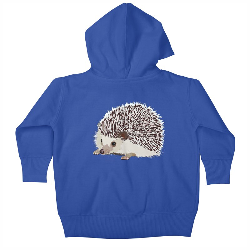 Happy Hedgehog Kids Baby Zip-Up Hoody by DevilishDetails's Artist Shop