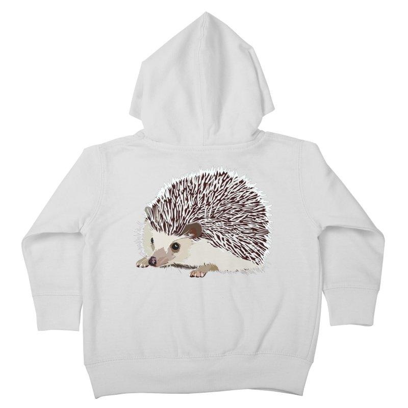 Happy Hedgehog Kids Toddler Zip-Up Hoody by DevilishDetails's Artist Shop
