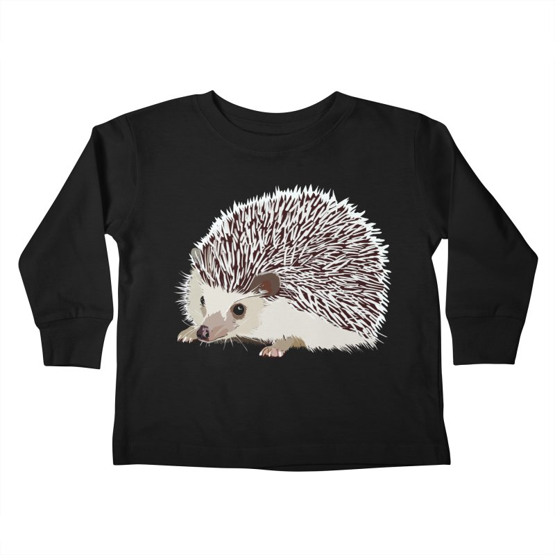 Happy Hedgehog Kids Toddler Longsleeve T-Shirt by DevilishDetails's Artist Shop