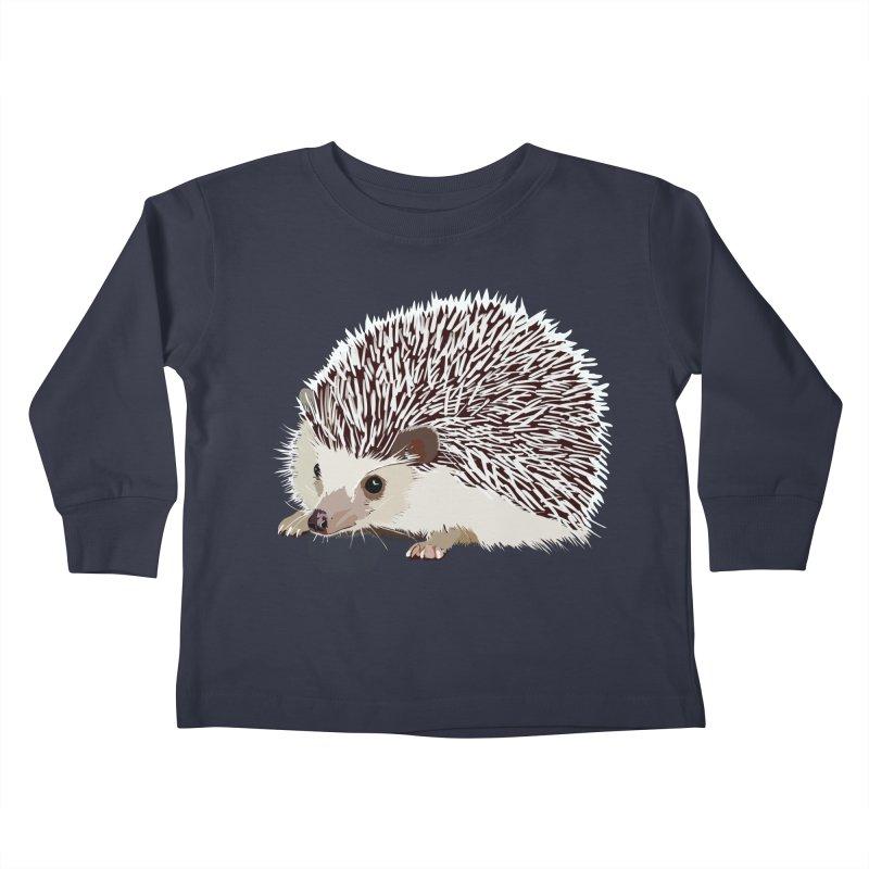 Happy Hedgehog Kids Toddler Longsleeve T-Shirt by DevilishDetails's Artist Shop