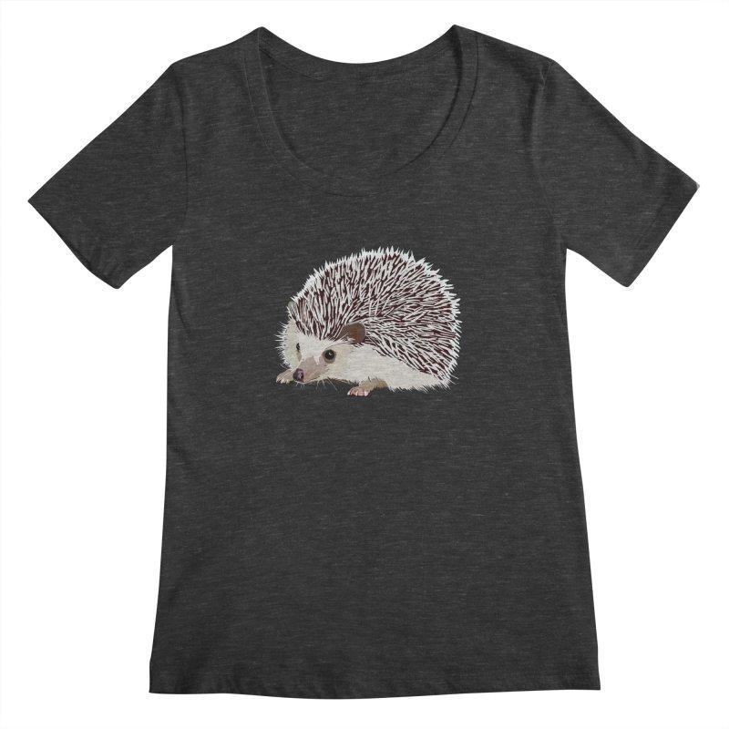 Happy Hedgehog Women's Scoopneck by DevilishDetails's Artist Shop