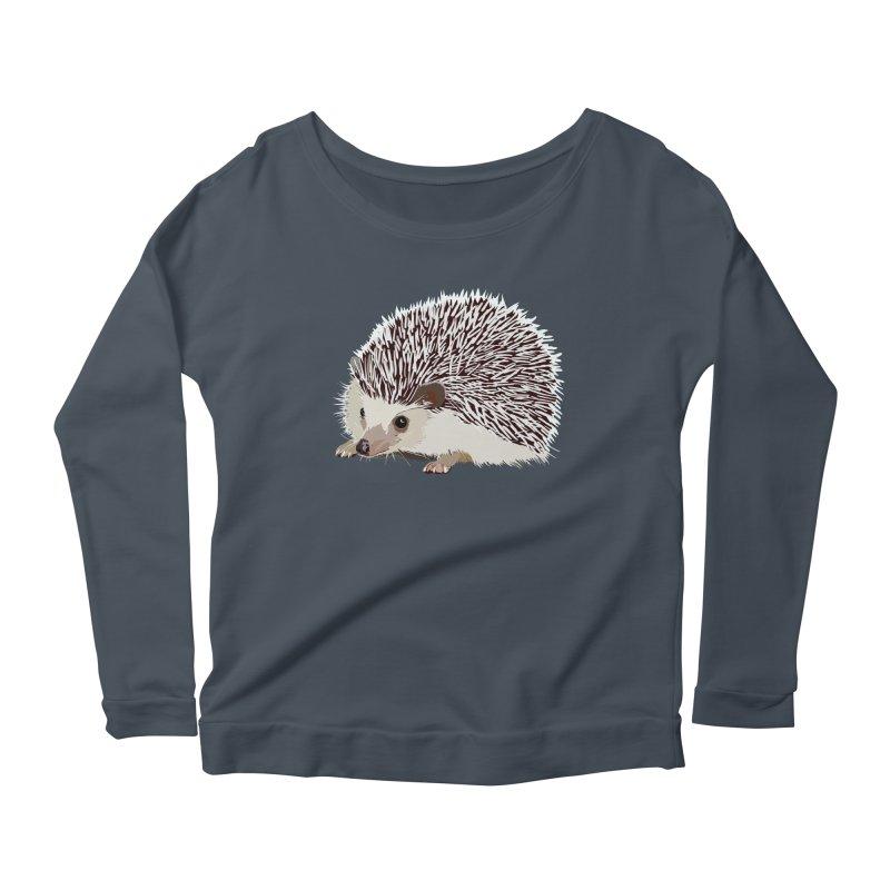 Happy Hedgehog Women's Scoop Neck Longsleeve T-Shirt by DevilishDetails's Artist Shop