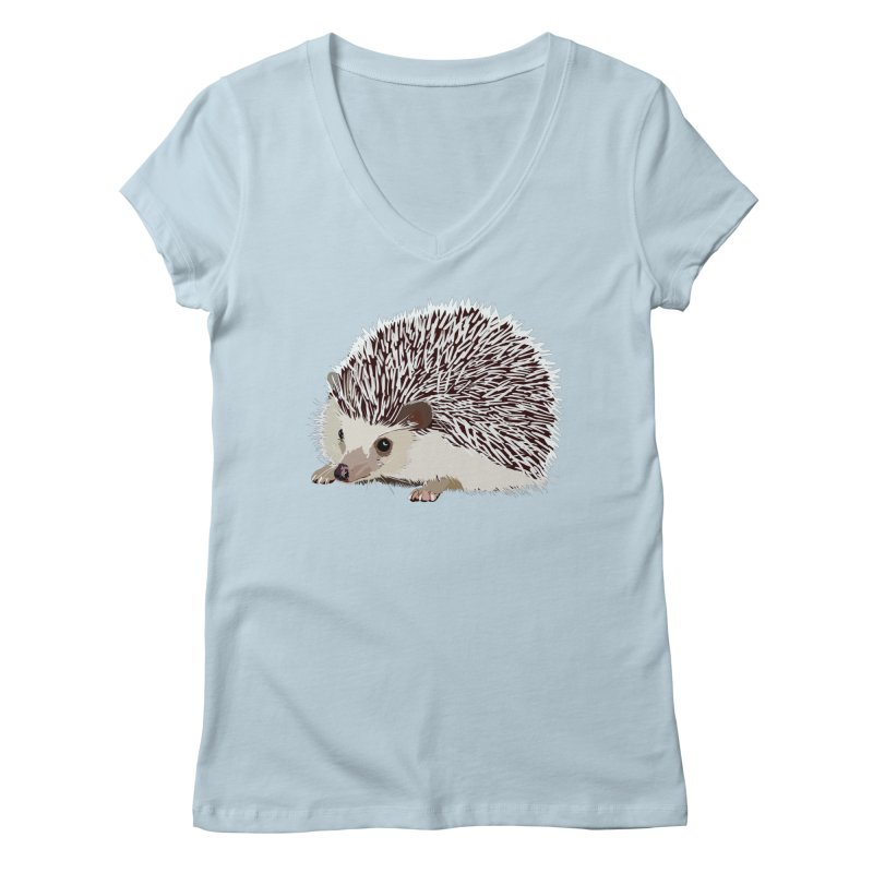 Happy Hedgehog Women's V-Neck by DevilishDetails's Artist Shop