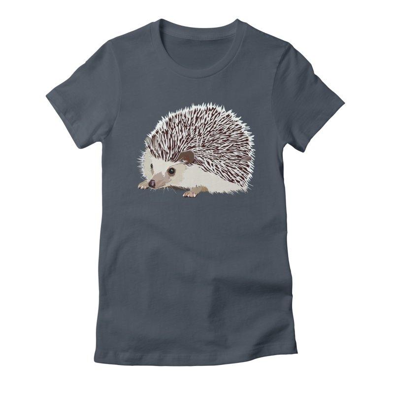Happy Hedgehog Women's Fitted T-Shirt by DevilishDetails's Artist Shop