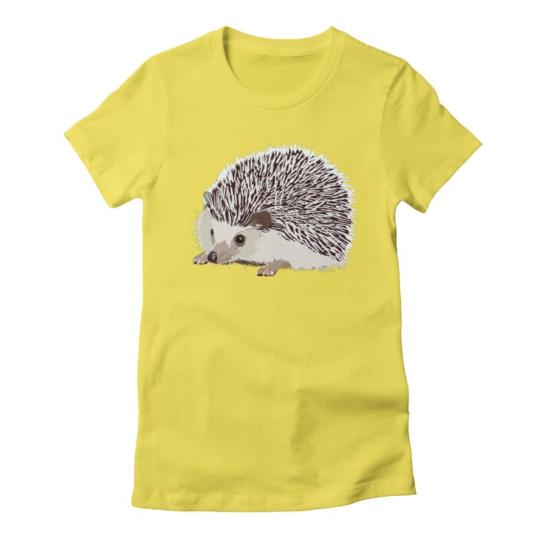 Happy Hedgehog Women's Fitted T-Shirt by DevilishDetails's Artist Shop