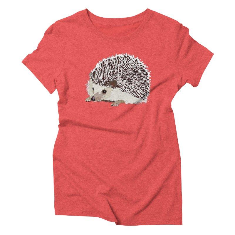 Happy Hedgehog Women's Triblend T-Shirt by DevilishDetails's Artist Shop