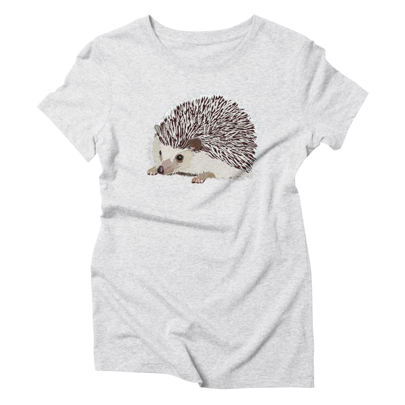 Happy Hedgehog Women's Triblend T-Shirt by DevilishDetails's Artist Shop