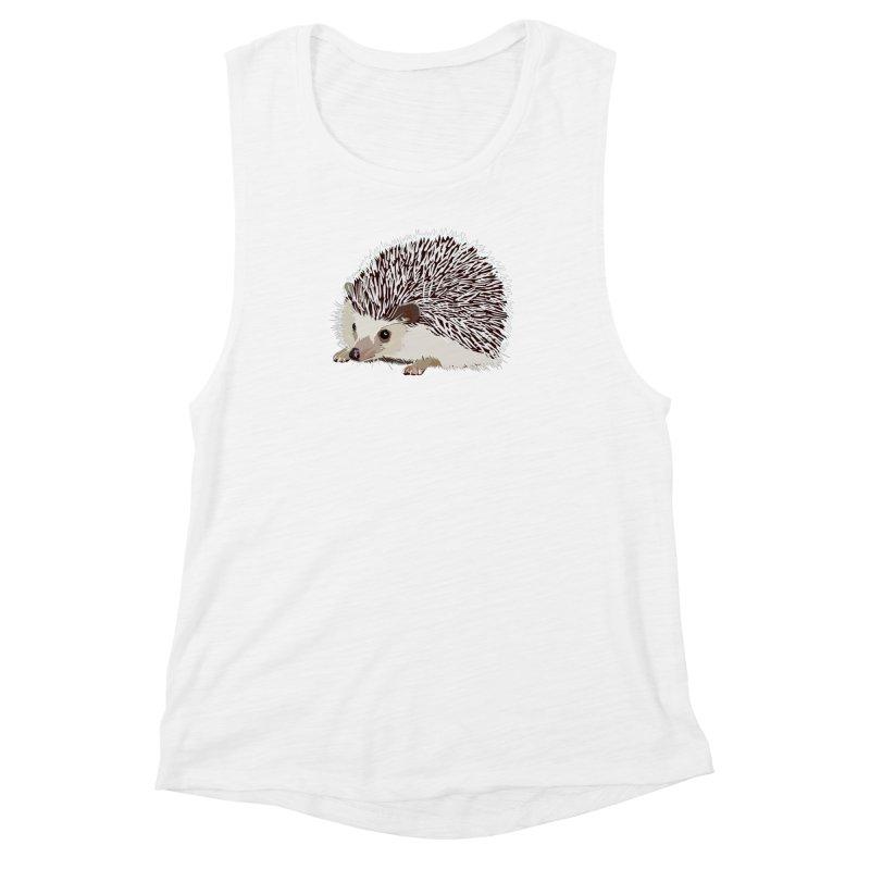 Happy Hedgehog Women's Muscle Tank by DevilishDetails's Artist Shop