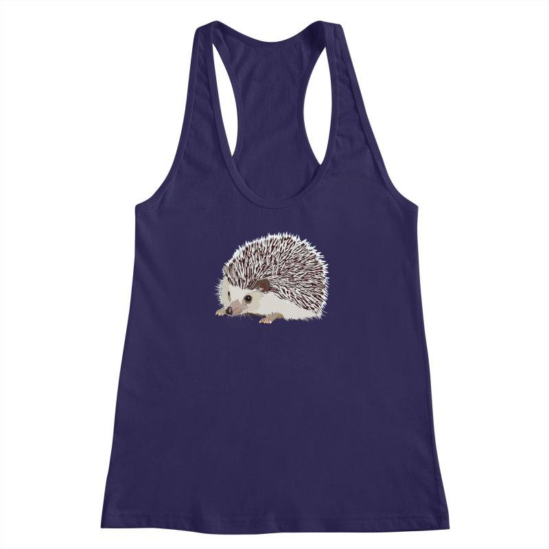 Happy Hedgehog Women's Racerback Tank by DevilishDetails's Artist Shop
