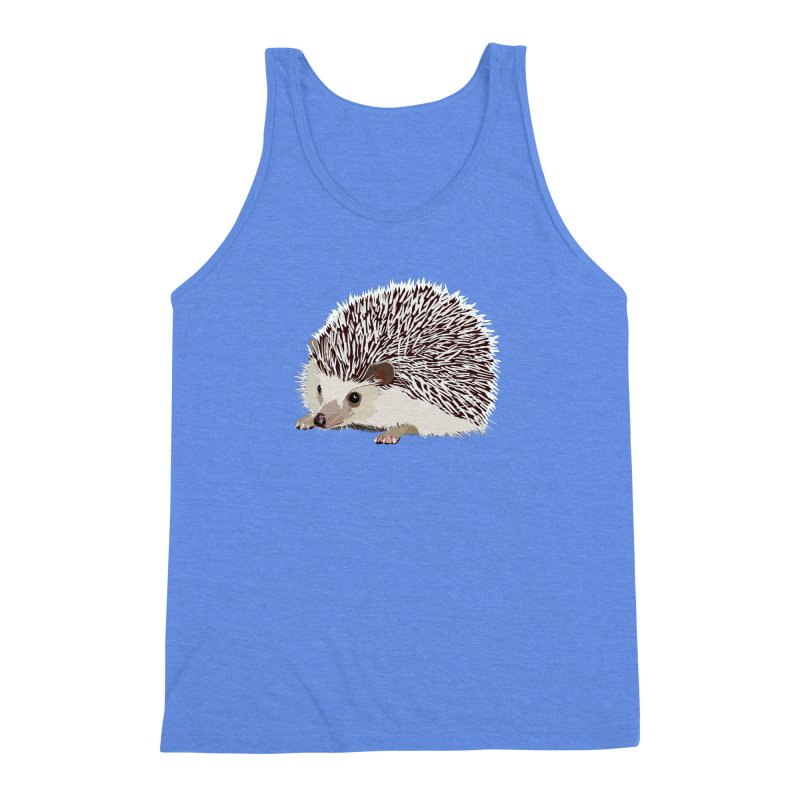 Happy Hedgehog Men's Triblend Tank by DevilishDetails's Artist Shop