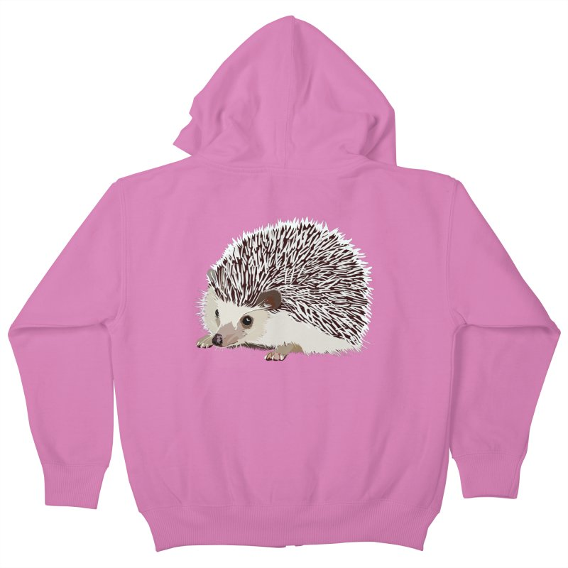 Happy Hedgehog Kids Zip-Up Hoody by DevilishDetails's Artist Shop