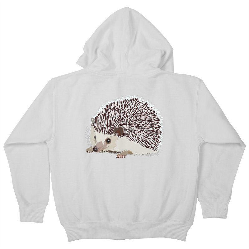 Happy Hedgehog Kids Zip-Up Hoody by DevilishDetails's Artist Shop
