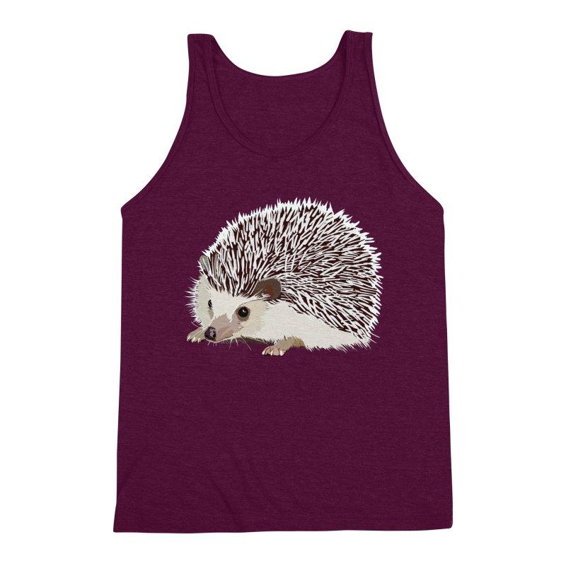 Happy Hedgehog Men's Triblend Tank by DevilishDetails's Artist Shop