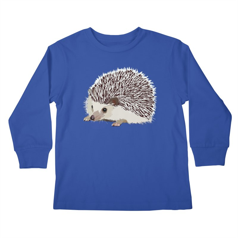 Happy Hedgehog Kids Longsleeve T-Shirt by DevilishDetails's Artist Shop