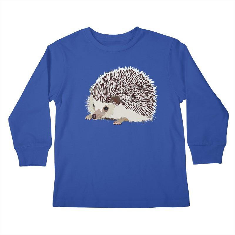 Happy Hedgehog Kids Longsleeve T-Shirt by DevilishDetails's Artist Shop
