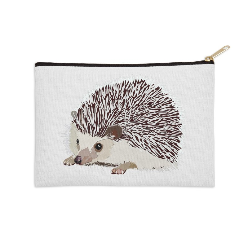 Happy Hedgehog Accessories Zip Pouch by DevilishDetails's Artist Shop
