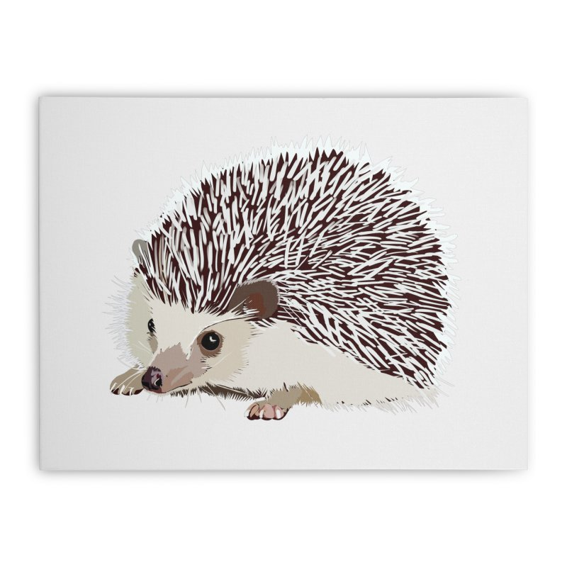 Happy Hedgehog Home Stretched Canvas by DevilishDetails's Artist Shop