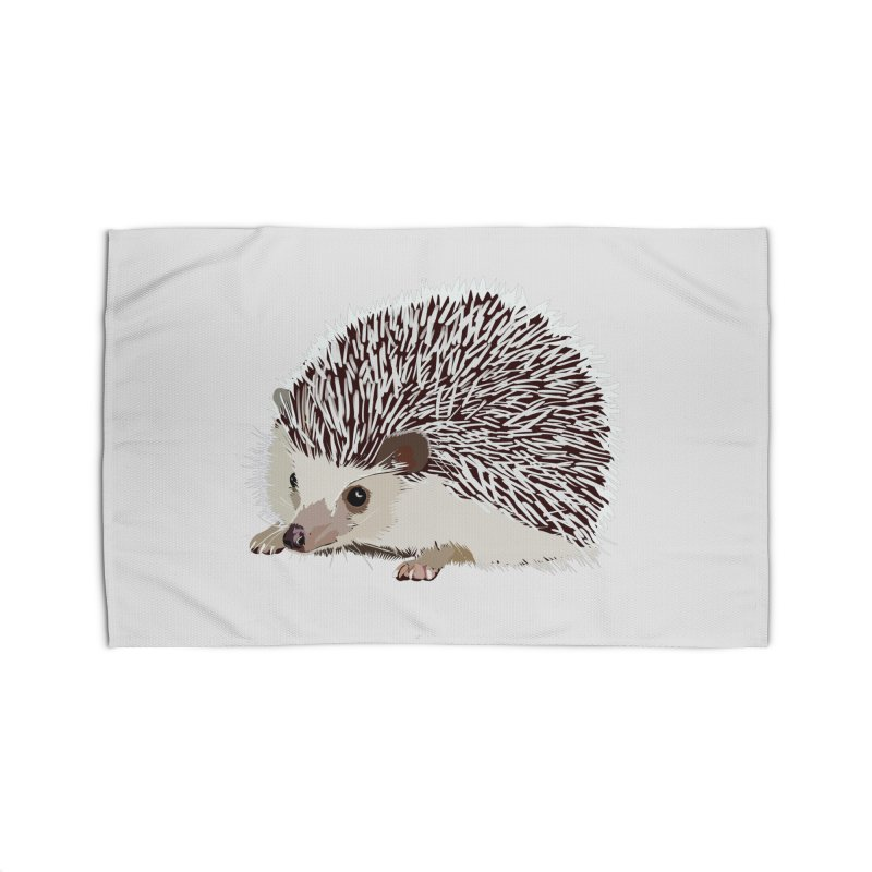 Happy Hedgehog Home Rug by DevilishDetails's Artist Shop