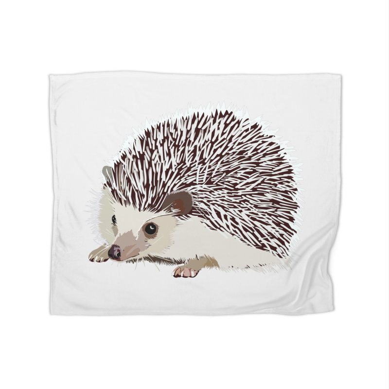 Happy Hedgehog Home Blanket by DevilishDetails's Artist Shop