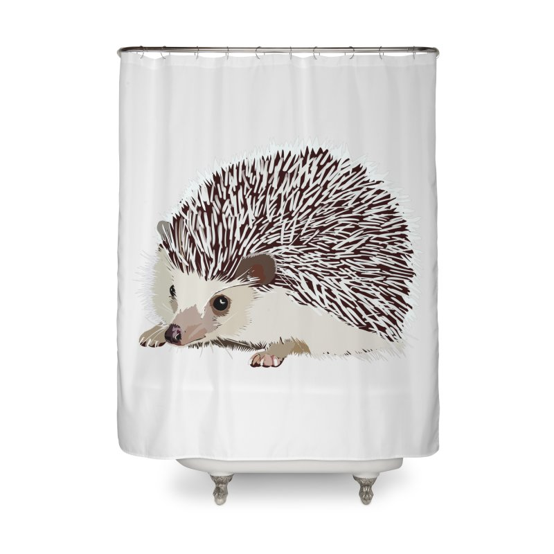 Happy Hedgehog Home Shower Curtain by DevilishDetails's Artist Shop