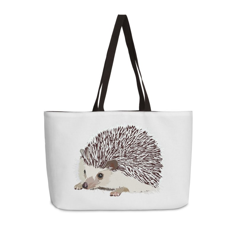 Happy Hedgehog Accessories Weekender Bag Bag by DevilishDetails's Artist Shop