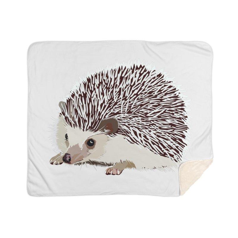 Happy Hedgehog Home Sherpa Blanket Blanket by DevilishDetails's Artist Shop