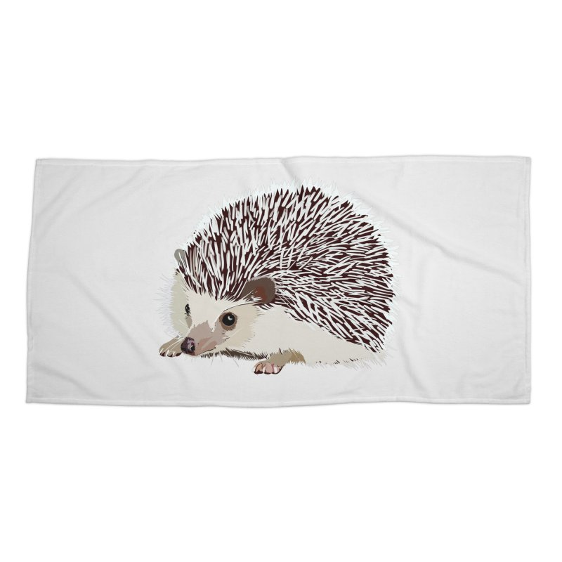 Happy Hedgehog Accessories Beach Towel by DevilishDetails's Artist Shop