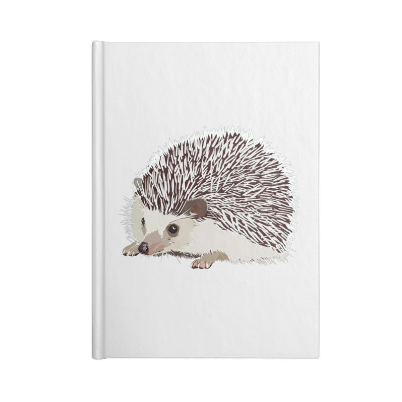 Happy Hedgehog Accessories Lined Journal Notebook by DevilishDetails's Artist Shop