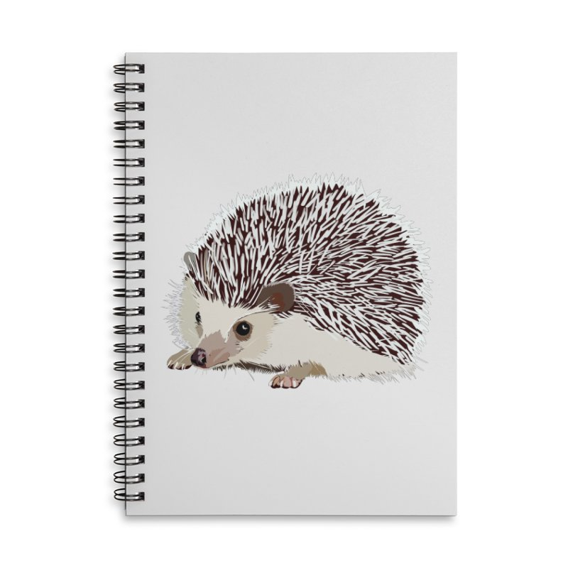 Happy Hedgehog Accessories Lined Spiral Notebook by DevilishDetails's Artist Shop
