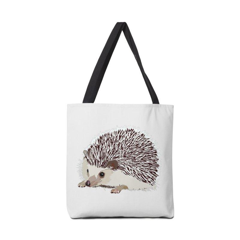 Happy Hedgehog Accessories Tote Bag Bag by DevilishDetails's Artist Shop