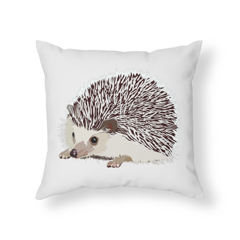 Happy Hedgehog Home Throw Pillow by DevilishDetails's Artist Shop