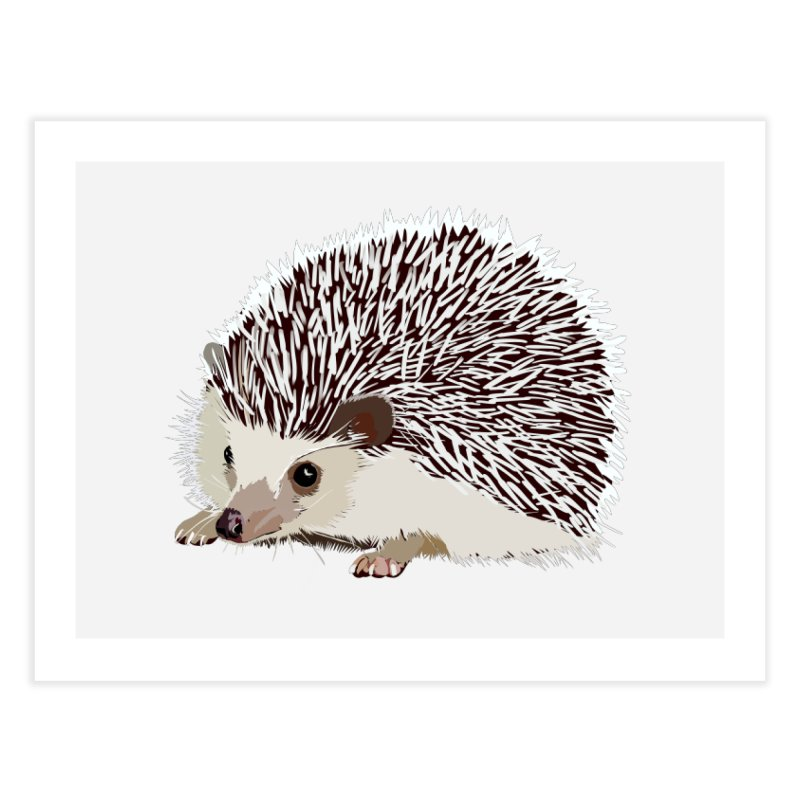 Happy Hedgehog Home Fine Art Print by DevilishDetails's Artist Shop