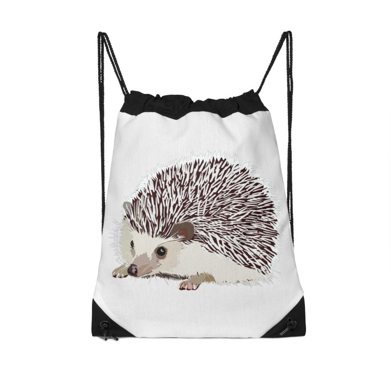 Happy Hedgehog Accessories Drawstring Bag Bag by DevilishDetails's Artist Shop