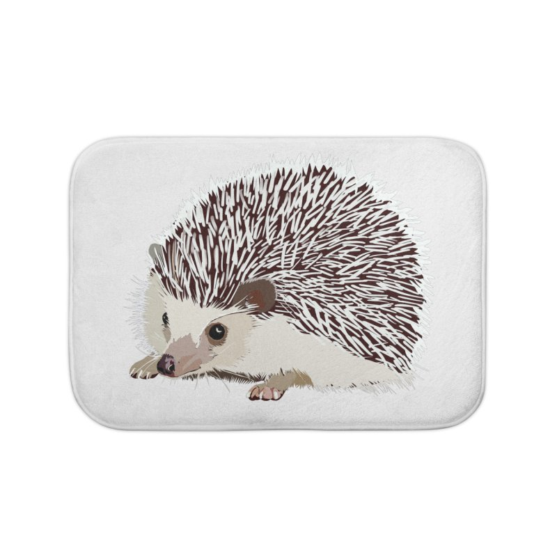 Happy Hedgehog Home Bath Mat by DevilishDetails's Artist Shop
