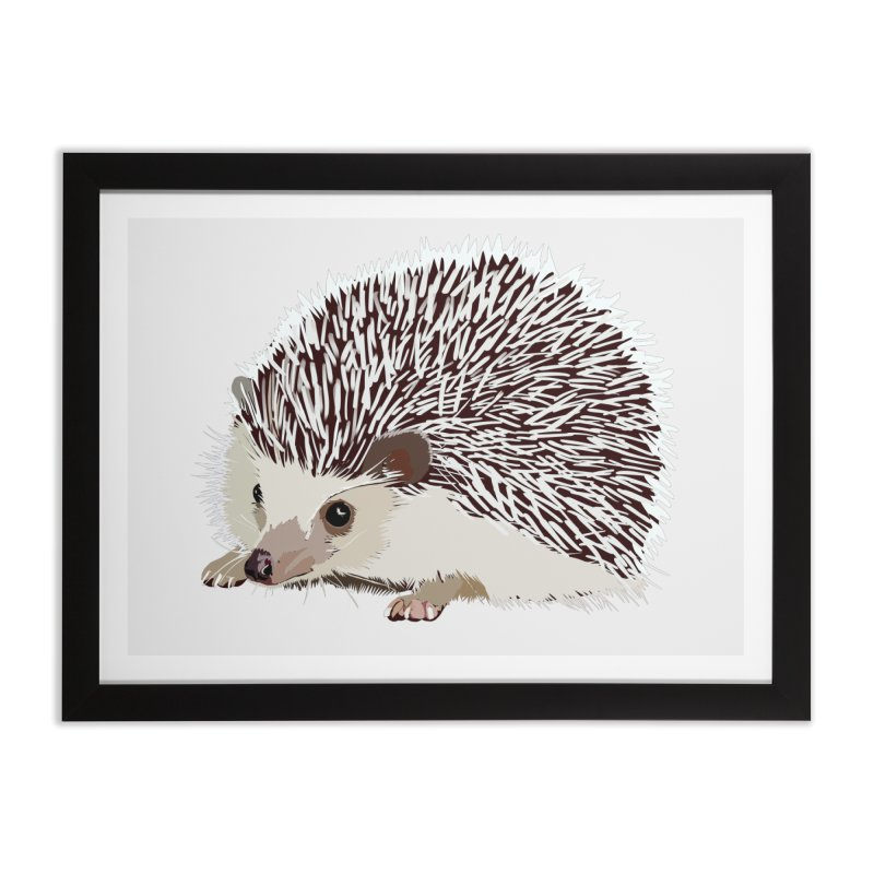 Happy Hedgehog Home Framed Fine Art Print by DevilishDetails's Artist Shop