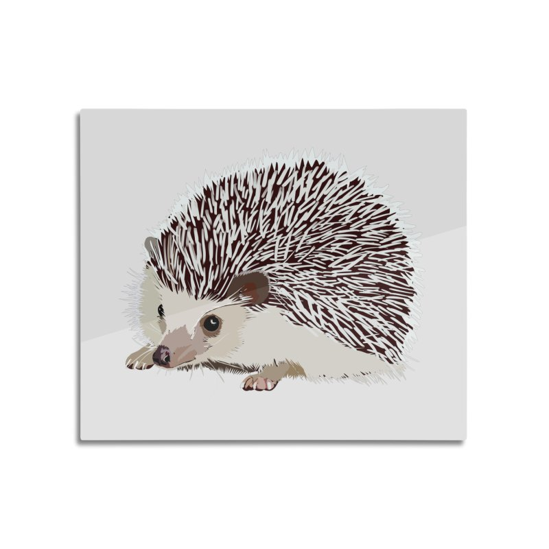 Happy Hedgehog Home Mounted Aluminum Print by DevilishDetails's Artist Shop
